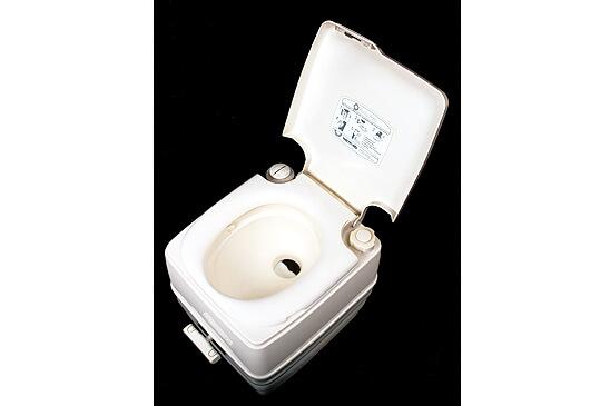Porta-potti plastic bodied toilet